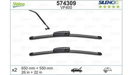 Valeo Silencio Wiper Blade Set Front VF400 574309