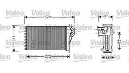 Valeo Heater Core 812221