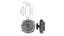 Dayco Viscous Fan Clutch 115014