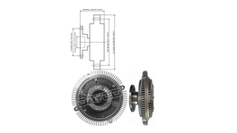 Dayco Viscous Fan Clutch 115073