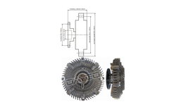Dayco Viscous Fan Clutch 115082