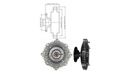 Dayco Viscous Fan Clutch 115085