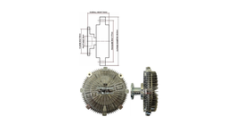 Dayco Viscous Fan Clutch 115820