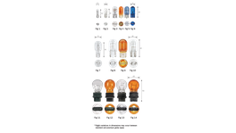 Narva Globes Wedge 12V 21W Amber 2 Pack 7532BL