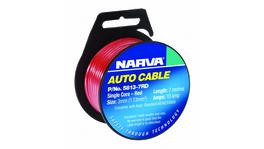 Narva Auto Cable 10A 3mm x 7m Red 5813-7RD
