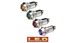 Narva Pilot Lamp 24V Chrome/Amber 62095BL 234455