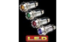 Narva Pilot Lamp 24V Chrome/Red 62097BL 234457