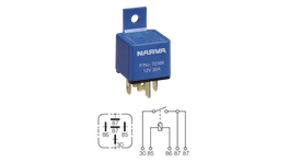Narva Relay 12V 5 Pin 30A 72386BL 17317