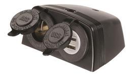 Narva Twin Socket With USB Dual Socket HD 81168BL