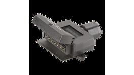 Narva 7 Pin Trailer Plug Flat Plastic 82043BL