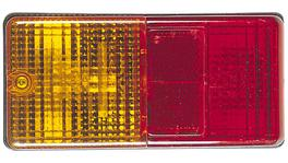 Narva Trailer Light Combination w/ Reflector Rectangular 86470BL