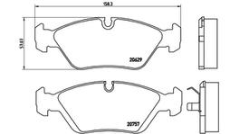Brembo Brake Pad Front Set (Low-Met) P06008 261582