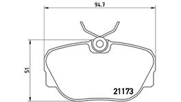 Brembo Brake Pad Front Set (Low-Met) P06010 261185