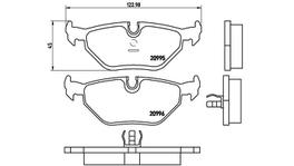 Brembo Brake Pad Rear Set (Low-Met) P06011 261187