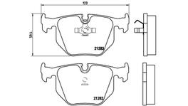 Brembo Brake Pad Set (Low-Met) P06016 261646