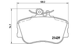 Brembo Brake Pad Front Set (Low-Met) P06017 261255