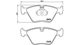 Brembo Brake Pad Set (Low-Met) P06042 261648