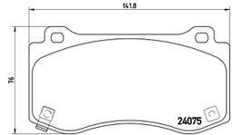 Brembo Brake Pad Front Set (Low-Met) P11023 261571
