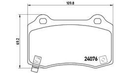 Brembo Brake Pad Rear Set (Low-Met) P11024 261572