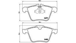 Brembo Brake Pad Set (Low-Met) P36019 261810