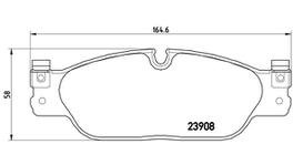 Brembo Brake Pad Set (Low-Met) P36021 261692