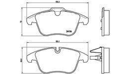 Brembo Brake Pad Set (Low-Met) P36022 261811