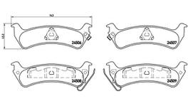 Brembo Brake Pad Set (Low-Met) P37012 261697