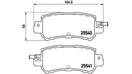 Brembo Brake Pad Rear Set (Low-Met) P49047 261562
