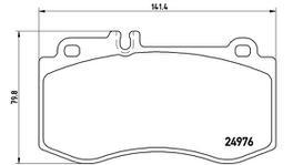 Brembo Brake Pad Set (Low-Met) P50087 261721