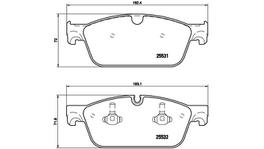 Brembo Brake Pad Set (Low-Met) P50102 261828