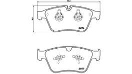 Brembo Brake Pad Set (Low-Met) P50105 261639