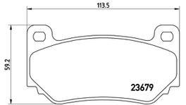Brembo Brake Pad Set (Low-Met) P52018 261724