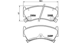Brembo Brake Pad Front Set (Low-Met) P56026 116345