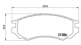 Brembo Brake Pad Front Set (Low-Met) P56028 261248