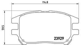 Brembo Brake Pad Front Set (Low-Met) P56050 261347
