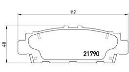 Brembo Brake Pad Front Set (Low-Met) P83032 261227