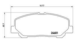 Brembo Brake Pad Front Set (Low-Met) P83099 116690