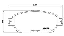 Brembo Brake Pad Front Set (Low-Met) P83105 261362