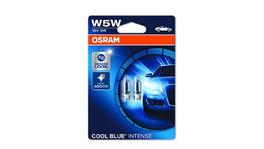 OSRAM Globes Wedge 12V 5W Cool Blue Intense 2 Pack