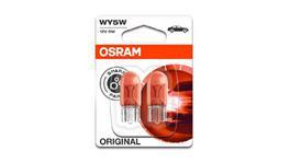OSRAM Globe Wedge 12V 5W 2 Pack